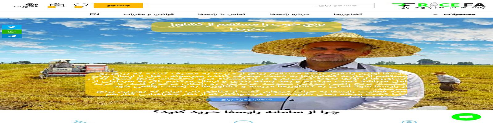 پلتفرم شبکه برنج ایران رایسفا