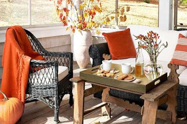 تزیین تراس آپارتمان با تم پاییزی ، فقط سلیقه می خواد و دقت!