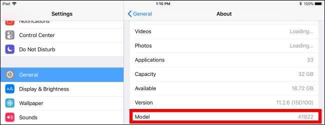 چگونه از شماره مدل آیپد (iPad) و مشخصات فنی آن اطلاع پیدا کنیم؟