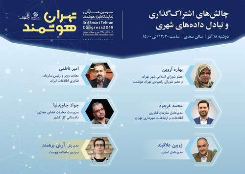 رویداد تهران هوشمند ۱۸ و ۱۹ آذرماه برگزار میشود /  نگاهی به پنلهای این رویداد در حوزه فناوری