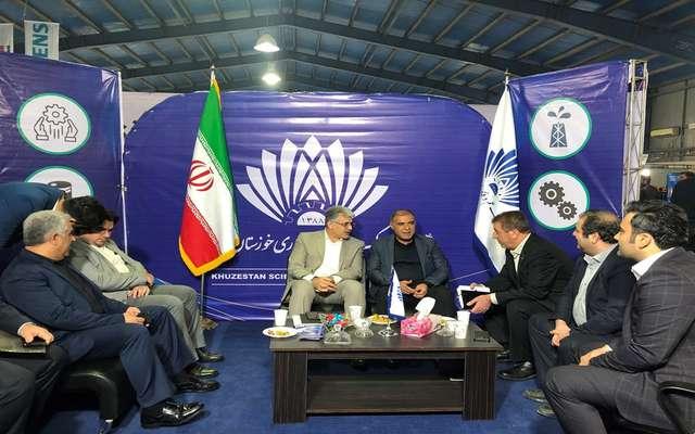 گزارش تصویری از غرفه پارک علم و فناوری خوزستان در یازدهمین نمایشگاه مشترک ساخت تجهیزات صنعت نفت و حفاری