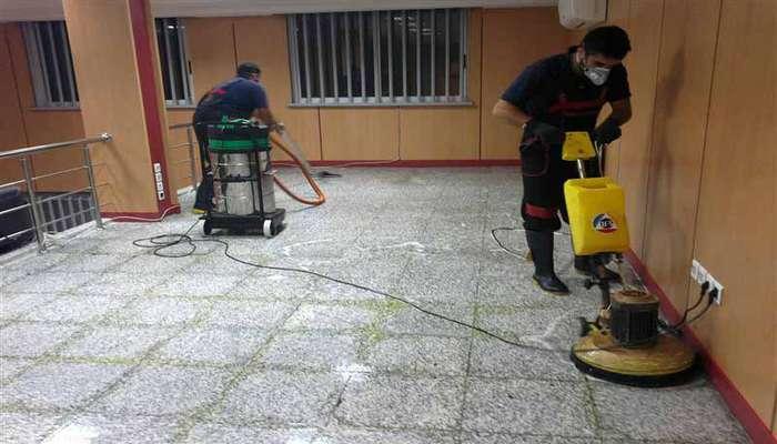 خدمات شستشوی کف ساختمان