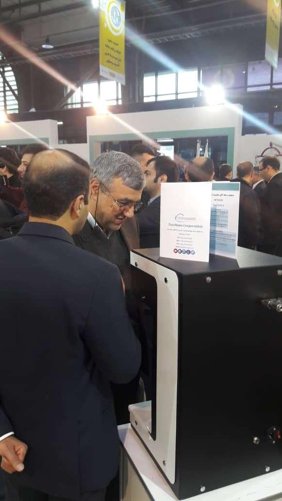 رونمایی از دستگاه اندازه گیری سطحی ویژه شرکت توس نانو عضو پارک خراسان رضوی