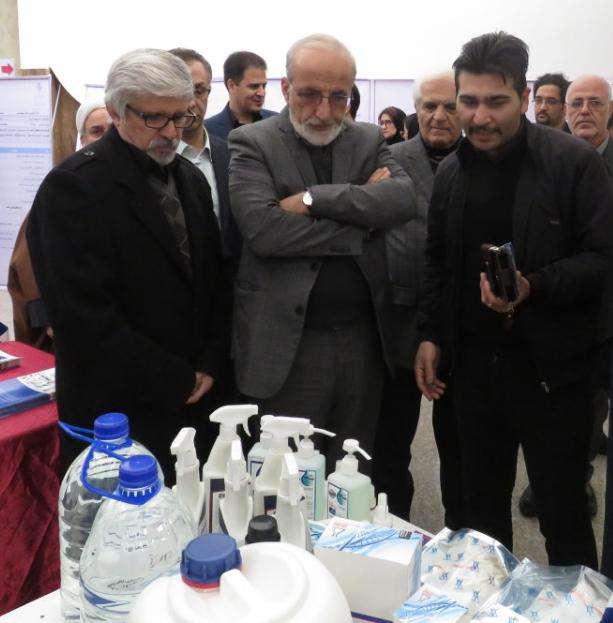 بازدید دکتر ملک زاده  از توانمندیهای فناوران پارک علم و فناوری البرز