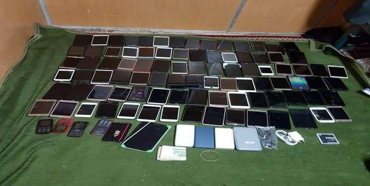 کشف گوشی های سرقتی به ارزش ریالی یک میلیارد و ۵۰۰ میلیون