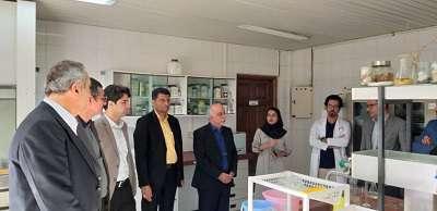 بازدید دکتر نظر پور معاون اداری مالی و مدیریت منابع وزارت علوم، تحقیقات و فناوری از پارک زیست فناوری خلیج فارس