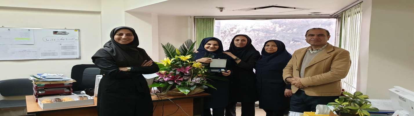 عنوان استاد برتر در عرصه آموزش پنجمین جشنواره آموزشی استاد وثوق به سرکار خانم فاطمه آغا حسینی تعلق گرفت
