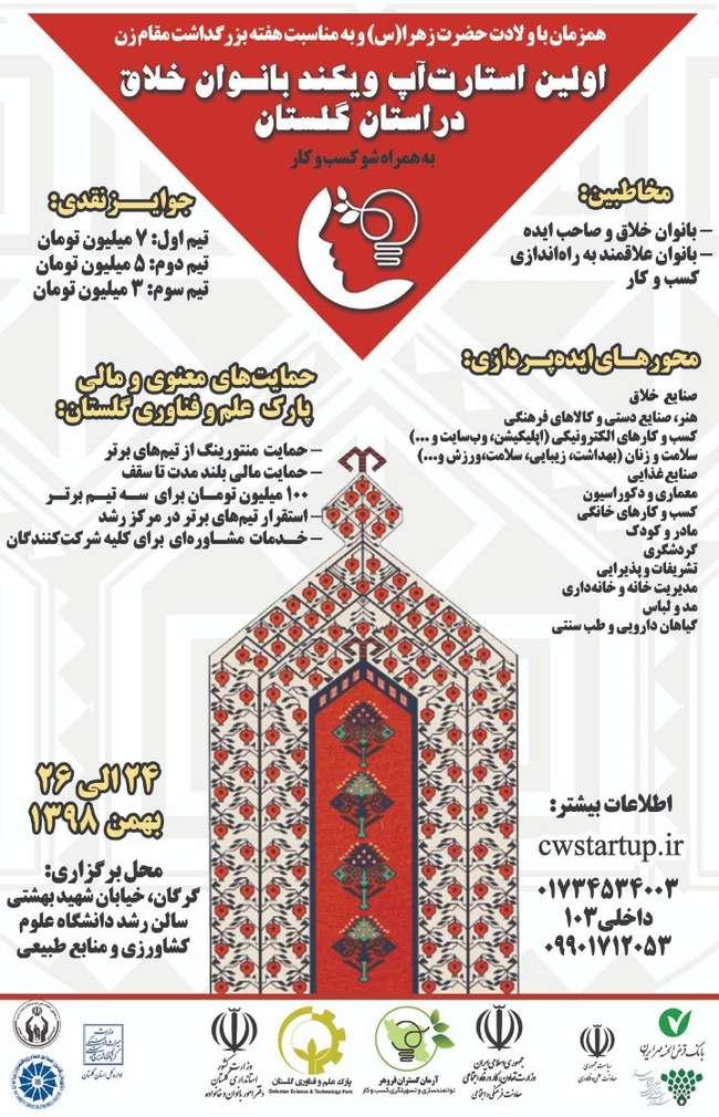 نخستین استارتاپویکند ویژه زنان کارآفرین در استان گلستان برگزار میشود