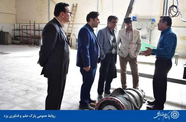 گزارش تصویری بازدید رییس پارک علم و فناوری یزد و هیات همراه از کارخانه پویا شیمی نوآوران الماس ستاره کویر