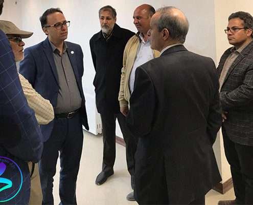 بازدید رئیس دانشگاه از ساختمان پردیس پژوهش