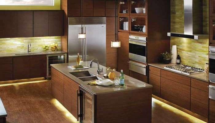 ترفندهای نور پردازی آشپزخانه