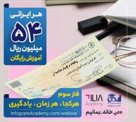 سهم هر ایرانی، ۵۴ میلیون ریال آموزش الکترونیکی رایگان