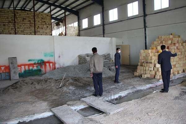 بازدید معاون پارک علم و فناوری آذربایجان غربی از عملیات عمرانی سوله کارگاهی پارک