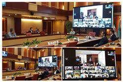 نشست ویدئو کنفرانسی مسئولان صندوق نوآوری و شکوفایی با روسای پارکهای علم و فناوری در محل وزارت علوم برگزار شد