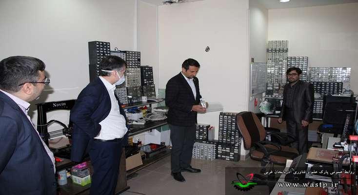 بازدید از واحدهای فناور مستقر در شهرک فناوری الکترونیک و صنایع غذایی  ارومیه