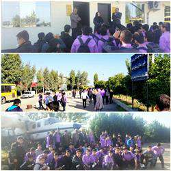 برگزاری تور فناوری با بازدید دانشآموزان و مسئولین مدرسه علامه طباطبائی بابل