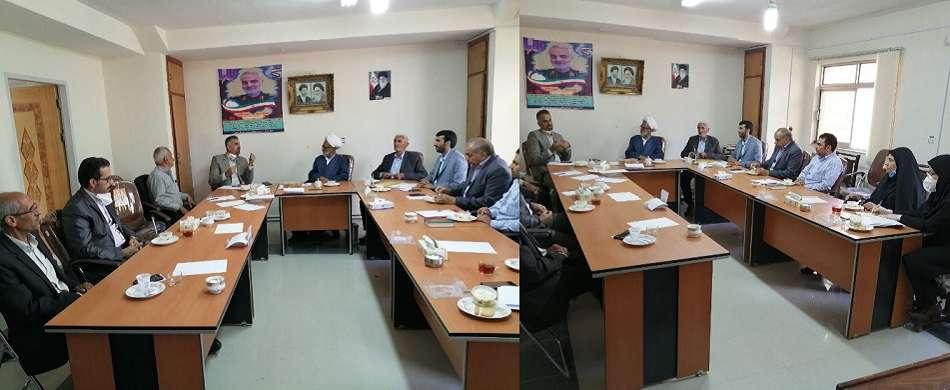 نشست رییس و مدیران پارک علم و فناوری استان سمنان با شهردار، اعضای شورای شهر و امام جمعه شهرمجن درخصوص تاسیس مرکز رشد مجن