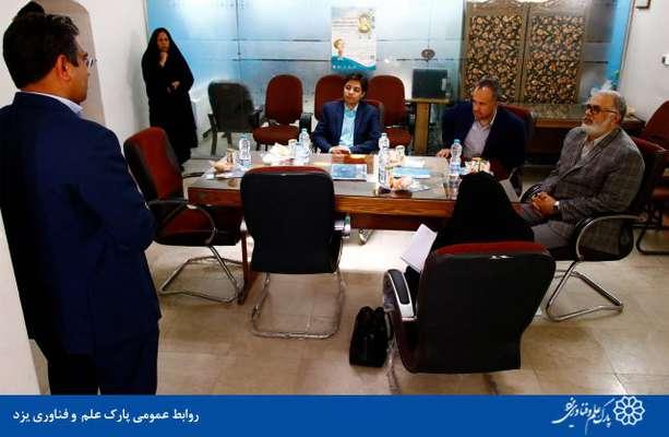 گزارش تصویری بازدید مدیر کل آموزش فنی و حرفه ای استان یزد از شرکت های پارک علم و فناوری یزد
