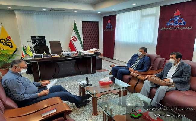 دیدار رئیس پارک علم و فناوری آذربایجان غربی با مدیرعامل شرکت گاز استان جهت رفع مشکل گازرسانی به واحدهای فناور و دانش بنیان