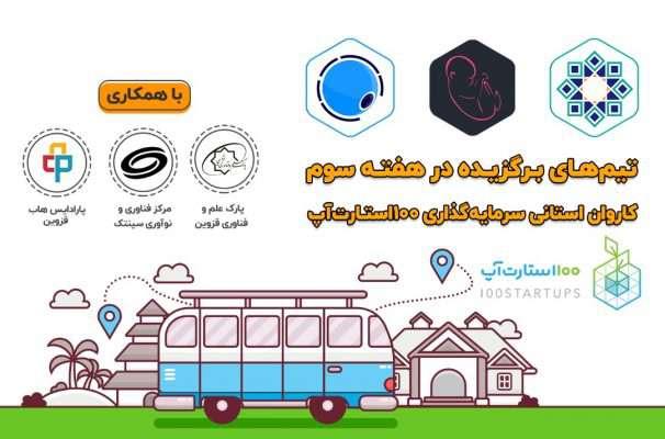 برگزیدگان رویداد مجازی کاروان سرمایه گذاری استارتاپی استان قزوین
