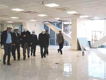 بازدید رییس جهاددانشگاهی از پروژه برج فناوری پارک علم و فناوری کرمانشاه