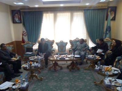 نشست مدیر مرکز رشد دانشگاه فردوسی مشهد در نشست با معاون سازمان حفاظت محیط زیست