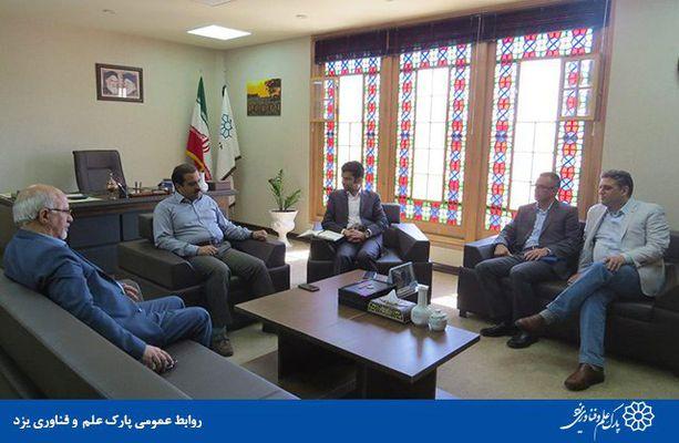 گزارش تصویری دیدار مدیران خانه صنعت، معدن و تجارت استان های یزد و کرمان با رئیس پارک علم و فناوری یزد