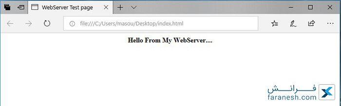 ایجاد وب سرور با صفحه HTML به کمک ESP۸۲۶۶