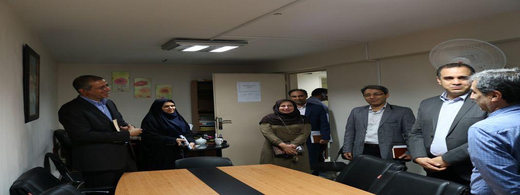 بازدید معاونت محترم آموزشی دانشگاه علوم پزشکی از دانشکده بهداشت انجام شد