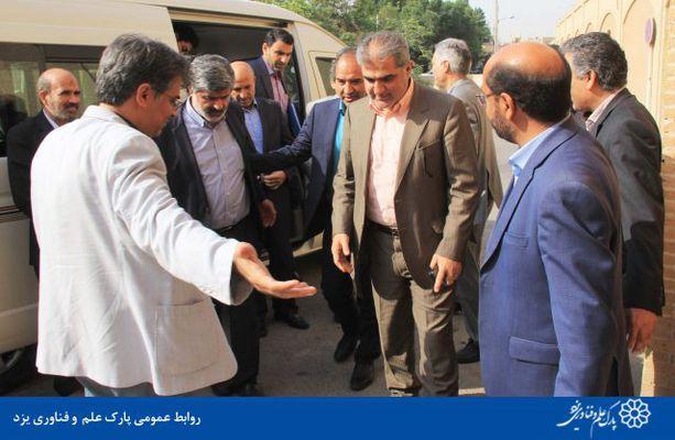 گزارش تصویری بازدید سرپرست سازمان ملی زمین و مسکن از پارک علم و فناوری یزد