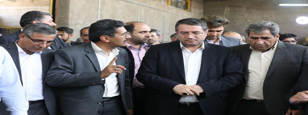 بازدید وزیر صنعت از مرکز رشد تربت حیدریه  و مرکز سحان
