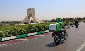حضور تینکست به عنوان پیک موتوری کل تهران