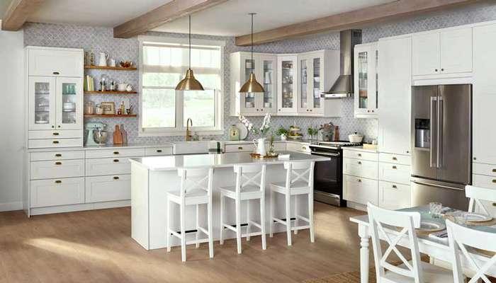 چگونه کابینت آشپزخانه سفید را تمیز نگهداریم ؟
