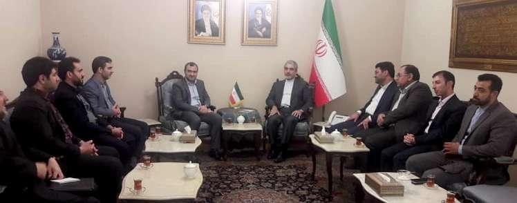 در دیدار معاونان صندوق نوآوری و شکوفایی با سفیر ایران در سوریه مطرح شد؛  هدف صندوق نوآوری توسعه کسب و کار شرکتهای دانش بنیان است
