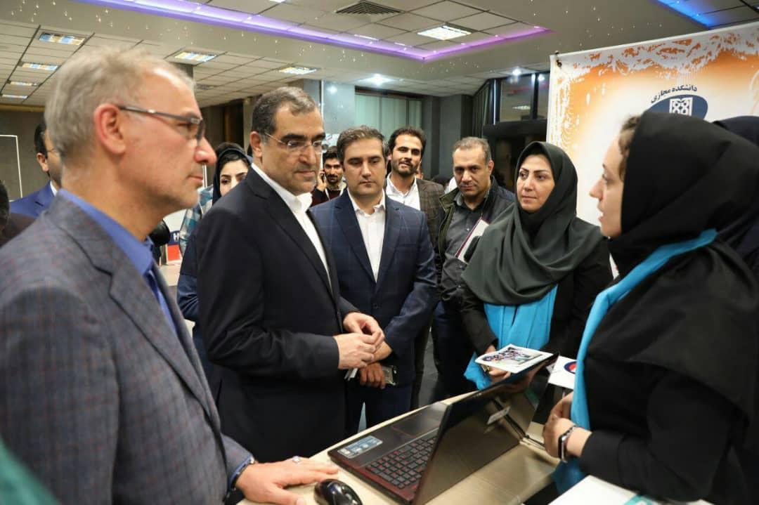 وزیر بهداشت در بازدید از جشنواره رسانههای دیجیتال سلامت؛ جشنوارهای که باید زودتر برگزار میشد